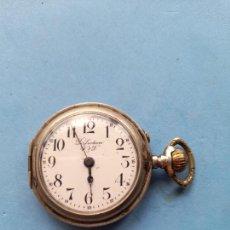 Relojes de bolsillo: RELOJ DE BOLSILLO MARCA PERFECTION W & D. CAJA DE PLATA.. Lote 261520635