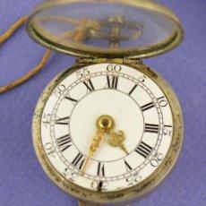 Relojes de bolsillo: RELOJ CATALINO SIGLO XVIII INGLÉS CON FUNDA DE PLATA, EN FUNCIONAMIENTO. VER MARCAS INTERIORES.. Lote 261535720