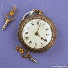 Relojes de bolsillo: RELOJ CATALINO SIGLO XVIII CON FUNDA DE PLATA, EN FUNCIONAMIENTO. BRISTOL. REVISADO POR UN RELOJERO.. Lote 261536185