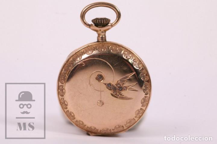 Relojes de bolsillo: Antiguo Reloj de Bolsillo de Mujer Oro 18k - 3 Tapas Patente 4 Medallas 1896 Genéve - Restauración - Foto 2 - 261537755