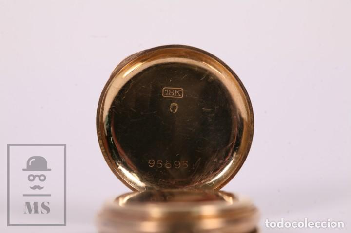 Relojes de bolsillo: Antiguo Reloj de Bolsillo de Mujer Oro 18k - 3 Tapas Patente 4 Medallas 1896 Genéve - Restauración - Foto 4 - 261537755