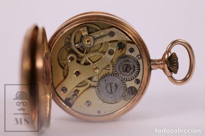 Relojes de bolsillo: Antiguo Reloj de Bolsillo de Mujer Oro 18k - 3 Tapas Patente 4 Medallas 1896 Genéve - Restauración - Foto 6 - 261537755