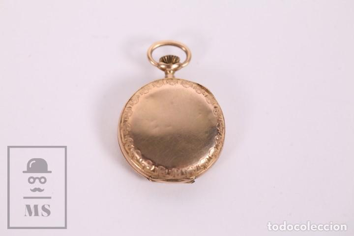 Relojes de bolsillo: Antiguo Reloj de Bolsillo de Mujer Oro 18k - 3 Tapas Patente 4 Medallas 1896 Genéve - Restauración - Foto 9 - 261537755