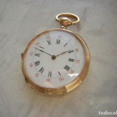 Relojes de bolsillo: RELOJ DE BOLSILLO DE ORO 18 KT (KILATES) AÑO 1875-1885. Lote 261568350