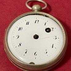 Relojes de bolsillo: ANTIGUO RELOJ DE BOLSILLO DE PLATA, CATALINO. SXVIII. Lote 261795675