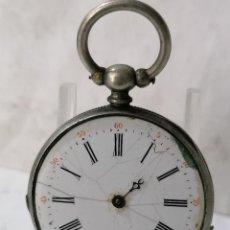 Relojes de bolsillo: RELOJ DE BOLSILLO CCYLINDRE, NO FUNCIONA, MEDIDA 48 MM, FALTA PIEZAS Y CRISTAL. Lote 288734163