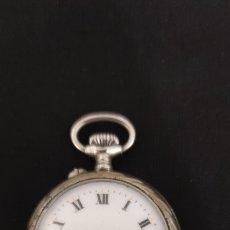 Relojes de bolsillo: PRECIOSO Y MUY ANTIGUO RELOJ DE BOLSILLO, FUNCIONANDO, CAJA LABRADA.. Lote 262337745