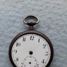Relojes de bolsillo: RELOJ DE BOLSILLO MUY ANTIGUO. CON CAJA DE HIERRO. Lote 262556740
