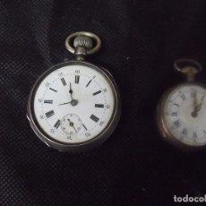 Relojes de bolsillo: 2 RELOJES DE BOLSILLO ANTIGUOS EN PLATA AÑO 1890-LOTE 259-26. Lote 262570185