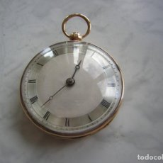 Relojes de bolsillo: RELOJ DE BOLSILLO CATALINO ORO 18 KT (KILATES) AÑO 1800-1810. Lote 262594765