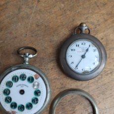 Relojes de bolsillo: DOS ANTIGUOS RELOJES DE BOLSILLO UNO MARCA ESTER Y UNO F.BACHSCHMID. PARA RECAMBIOS. Lote 220086580