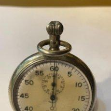 Relojes de bolsillo: CRONÓMETRO RELOJ DE BOLSILLO MINERVA PLATEADO MED.: 6,5 CMS. TOTAL (GN). Lote 262865455