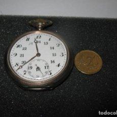 Relojes de bolsillo: RELOJ PLATEADO DE BOLSILLO IWC., SUPER ESTADO CORRECTO. COMPLETAMENTE CORRECTO. Lote 263102800