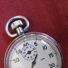 Relojes de bolsillo: ANTIGUO CRONÓMETRO MECANICO MILITAR BOLSILLO UNIÓN SOVIÉTICA RUSO EJERCITO SOVIETICO AGATA FUNCIONA. Lote 263182490