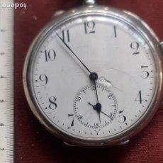 Relógios de bolso: RELOJ DE SONERÍA DE PLATA. EN FUNCIONAMIENTO. Lote 263534015