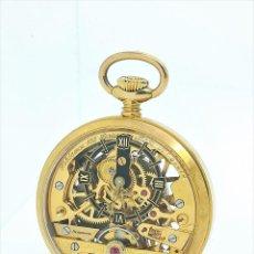 Relojes de bolsillo: RELOJ DE BOLSILLO HEBDOMAS 102 SKELETON 8 DÍAS DE CUERDA - RARO & COLECCIÓN - EDICIÓN LIMITADA - DE. Lote 263739110
