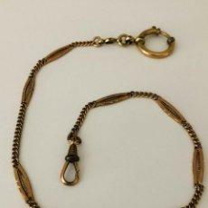 Orologi da taschino: ANTIGUA LEONTINA ART-DECO CON TRENZADOS AÑO 1910-LOTE 259-27. Lote 264429934