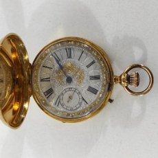 Relojes de bolsillo: ANTIGUO RELOJ DE BOLSILLO EN ORO 18 K - PAUL JEANNOT, GENÈVE - S. XIX. Lote 265799434