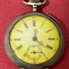 Relojes de bolsillo: ANTIGUO RELOJ DE BOLSILLO DE PLATA. S.XIX. Lote 267109394