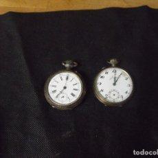 Relojes de bolsillo: 2 RELOJES DE BOLSILLO ANTIGUOS-1 PLATA-1 NICKEL JUNGHANS- LOTE 259-30. Lote 267787444