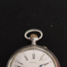 Relojes de bolsillo: LONGINES BOLSILLO DE PLATA, UN MAQUINA ESPECTACULAR. FUNCIONANDO.. Lote 268830914