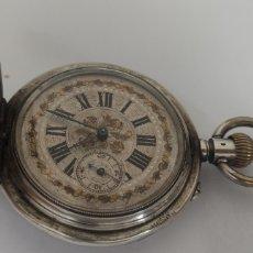 Relojes de bolsillo: SABONETA DE PLATA ISABELINA. Lote 269171878