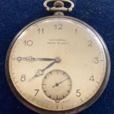 Relojes de bolsillo: RELOJ DE PLATA UNIVERSAL CON MAQUINARIA CONTRASTADA JUVENIA PARA RESTAURAR. Lote 269203773