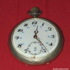 Relojes de bolsillo: RELOJ DE BOLSILLO DE PLATA - FUNCIONA. Lote 269261198
