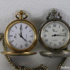 Relojes de bolsillo: DOS RELOJES DE BOLSILLO. LOTUS E YVES RENOID, QUARTZ. Lote 269371998