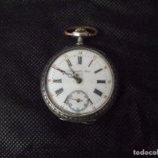 Relojes de bolsillo: ANTIGUO RELOJ BOLSILLO EN PLATA AÑO 1880 - FUNCIONA- LOTE 259-31. Lote 269698403
