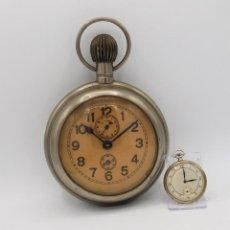 Relojes de bolsillo: MUY RARO-MUY GRANDE (15 CM DÍAMETRO) Y ANTIGUO RELOJ DESPERTADOR-BOLSILLO-CIRCA 1900-FUNCIONANDO. Lote 270140998