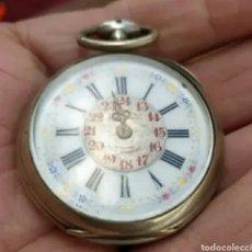 Relojes de bolsillo: ANTIGUO RELOJ DE PLATA. Lote 270943953