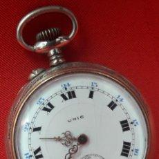 Relojes de bolsillo: RELOJ DE BOLSILLO, MARCA UNIC, FUNCIONA, PRIMER CUARTO DEL SIGLO XX. Lote 271876158