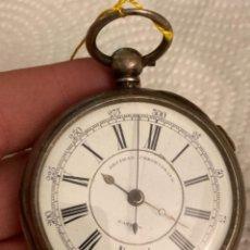 Relojes de bolsillo: BONITO CROMO DE PLATA PARA REPARAR, BUEN TAMAÑO. Lote 274286248