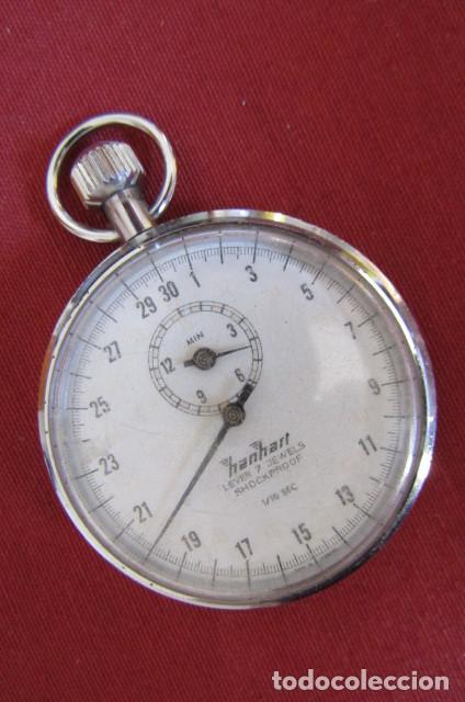 ANTIGUO CRONÓMETRO MECÁNICO A CUERDA MANUAL DE PRECISIÓN ALEMÁN HANHART AÑOS 1960 1970 Y FUNCIONA (Relojes - Bolsillo Carga Manual)