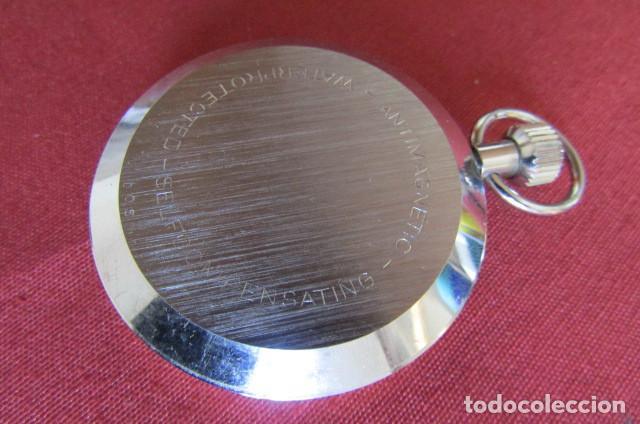 Relojes de bolsillo: Antiguo cronómetro mecánico a cuerda manual de precisión alemán Hanhart años 1960 1970 y funciona - Foto 5 - 274676578