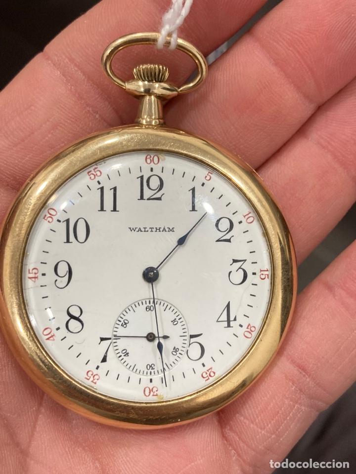 Relojes de bolsillo: Reloj de bolsillo waltman oro de 14 klts - Foto 2 - 275555823
