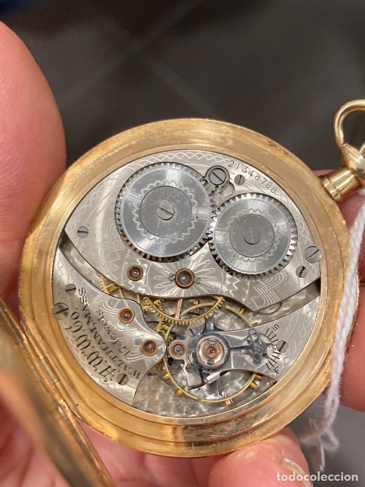 Relojes de bolsillo: Reloj de bolsillo waltman oro de 14 klts - Foto 4 - 275555823
