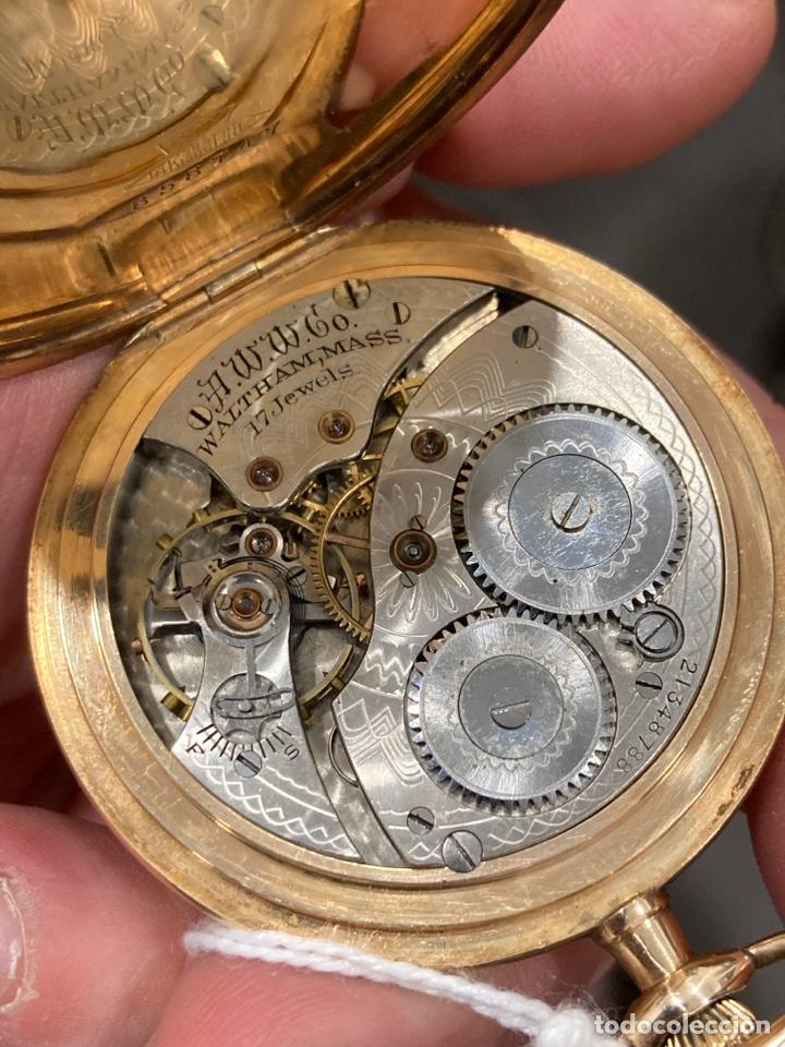 Relojes de bolsillo: Reloj de bolsillo waltman oro de 14 klts - Foto 5 - 275555823