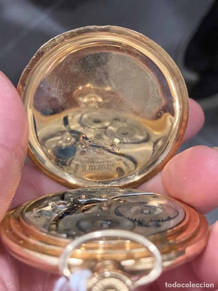 Relojes de bolsillo: Reloj de bolsillo waltman oro de 14 klts - Foto 6 - 275555823