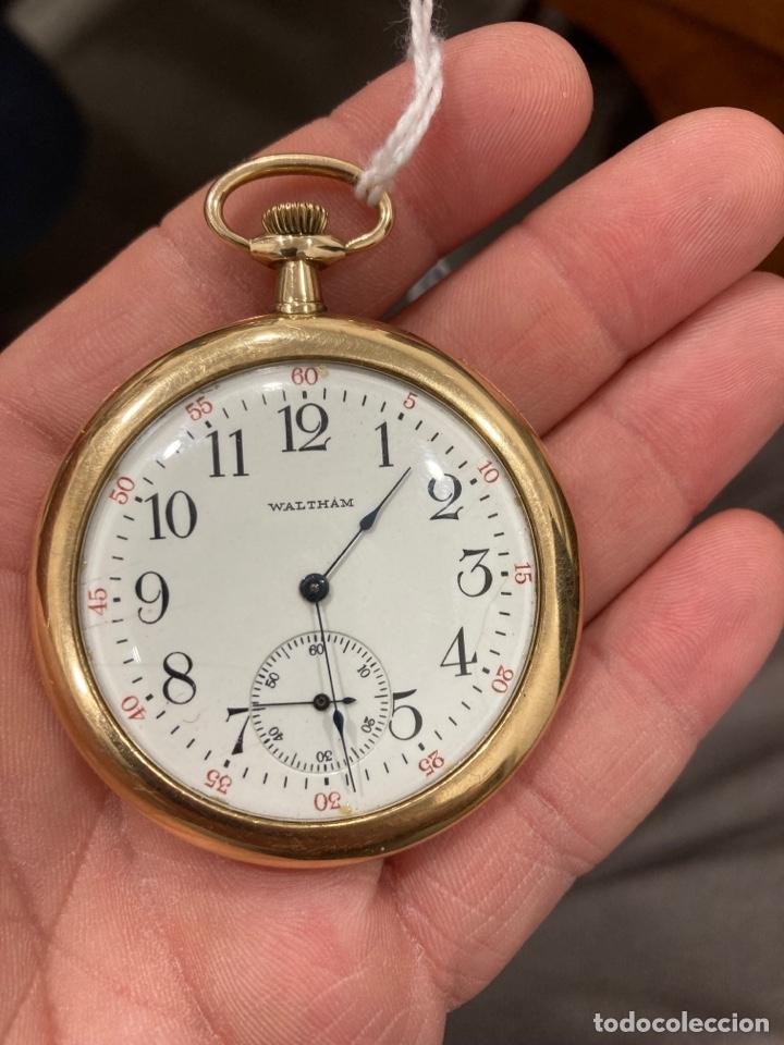 RELOJ DE BOLSILLO WALTMAN ORO DE 14 KLTS (Relojes - Bolsillo Carga Manual)