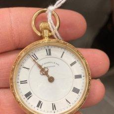 Relojes de bolsillo: RELOJ DE BOLSILLO INGLÉS ORO DE 18 KLTS. Lote 275556618