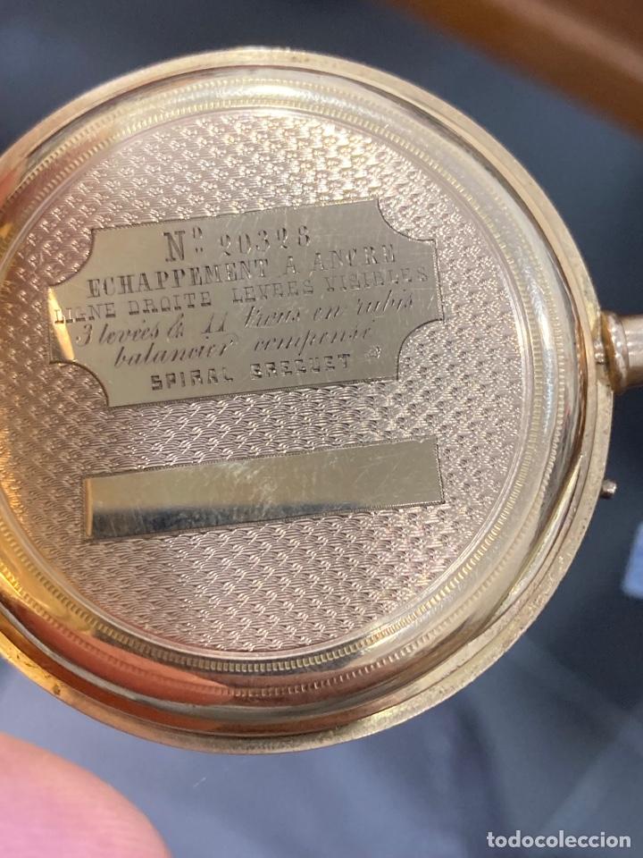 Relojes de bolsillo: Reloj de bolsillo de cilindro y espiral oro de 18 klts - Foto 5 - 275557238