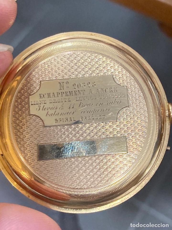 Relojes de bolsillo: Reloj de bolsillo de cilindro y espiral oro de 18 klts - Foto 6 - 275557238