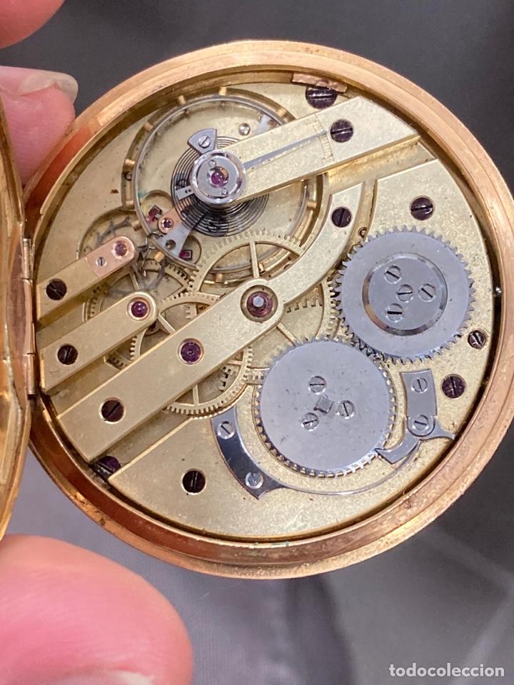 Relojes de bolsillo: Reloj de bolsillo de cilindro y espiral oro de 18 klts - Foto 8 - 275557238