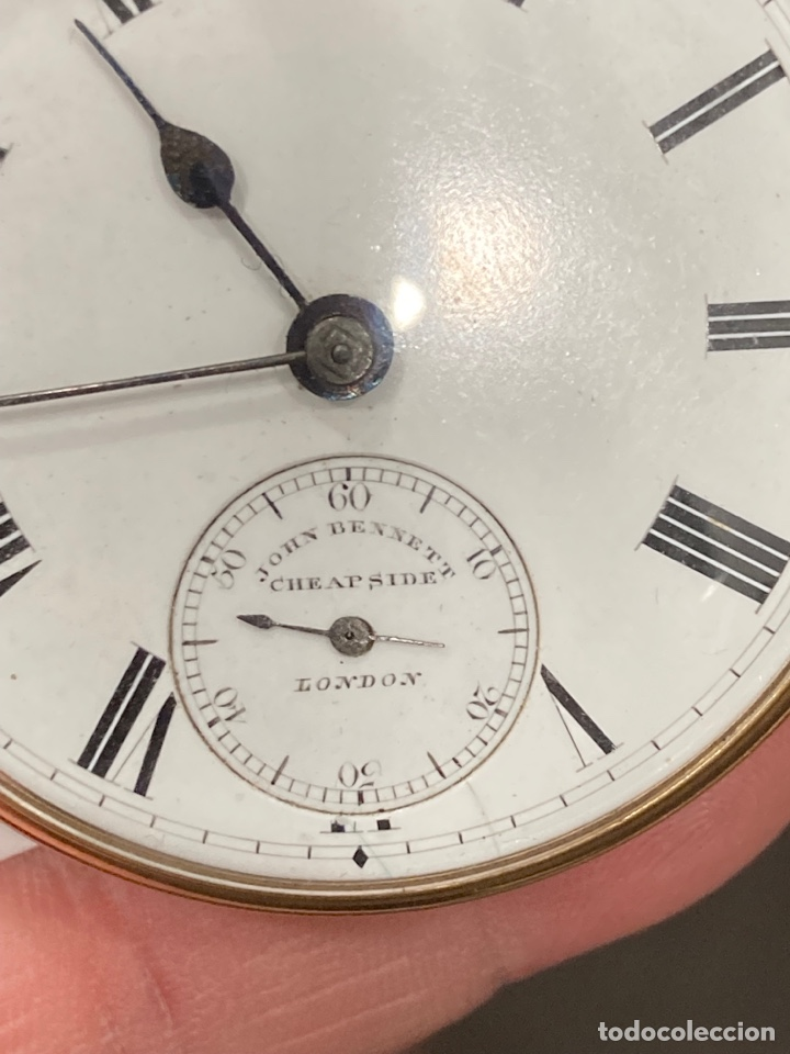 Relojes de bolsillo: Magnifico reloj de bolsillo oro de 18 klts relojero Jonh bennet, relojero real - Foto 2 - 275560418