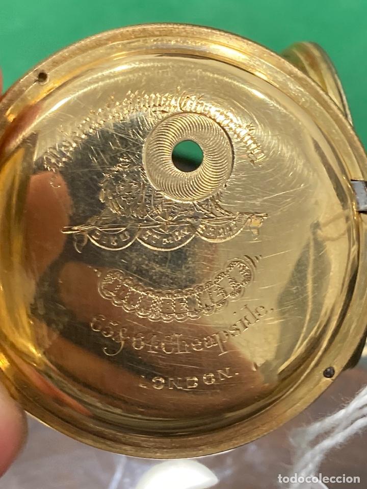 Relojes de bolsillo: Magnifico reloj de bolsillo oro de 18 klts relojero Jonh bennet, relojero real - Foto 6 - 275560418