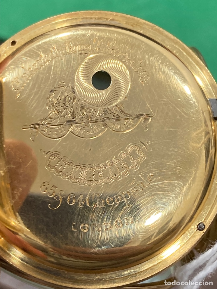 Relojes de bolsillo: Magnifico reloj de bolsillo oro de 18 klts relojero Jonh bennet, relojero real - Foto 7 - 275560418