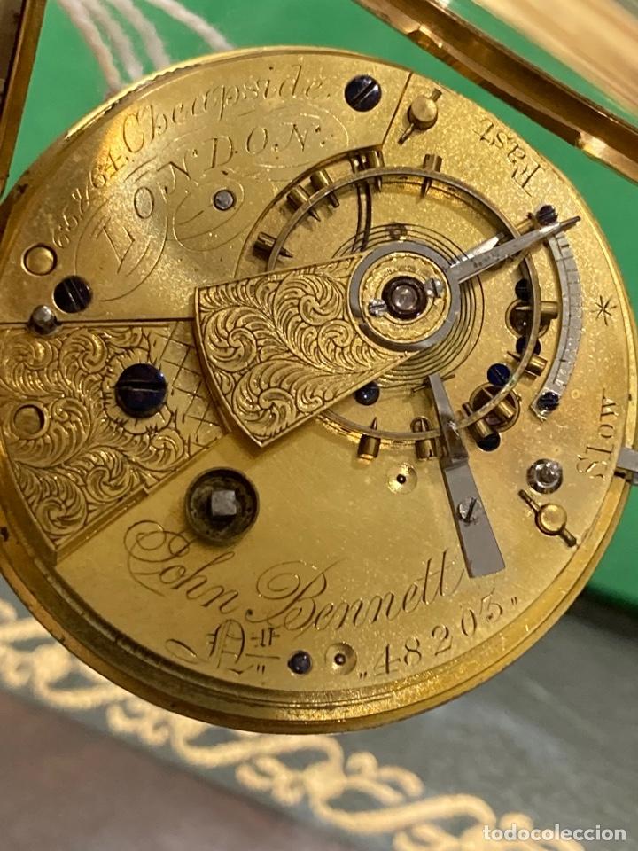 Relojes de bolsillo: Magnifico reloj de bolsillo oro de 18 klts relojero Jonh bennet, relojero real - Foto 9 - 275560418