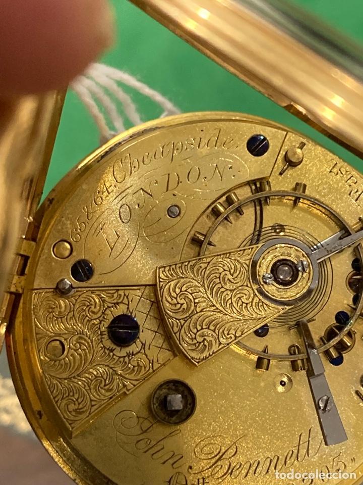 Relojes de bolsillo: Magnifico reloj de bolsillo oro de 18 klts relojero Jonh bennet, relojero real - Foto 10 - 275560418